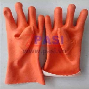 Bao tay coton phu cao su mau cam BH205A-XX